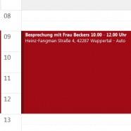 Outlook-Kalender – Reisezeiten mit eintragen